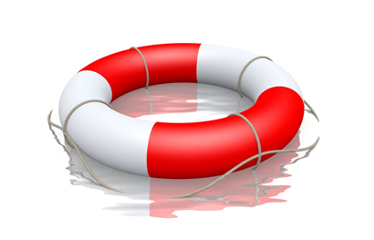 clip art of a life preserver in water