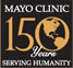 Mayo Clinic 150 years serving humanity graphic logo