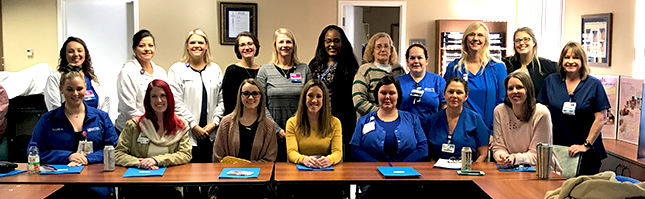 Baptist Health Care nurses on the nursing peer review board